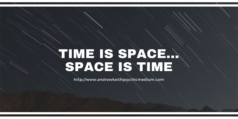 Time is space.. Space is time